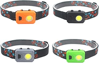 Led Headlamp Flashlight,3W COB Headlamp,3 Modes Ultra Bright Mini Head Lamp for Adults,Kids,Running,Reading,Repair,Camping