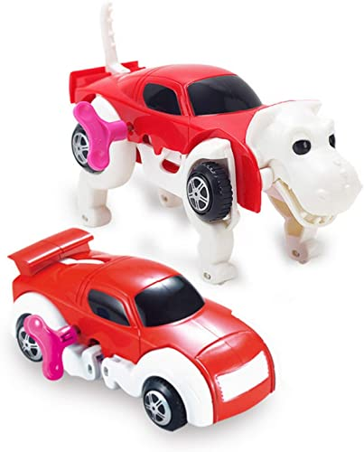 discount Transforming Toy online Cars Automatic Deformation Dog Transformation online Animal Robot Toys Car Transform Vehicles Playsets Clockwork Toy Gift for Kids Toddlers Boys (D) outlet sale