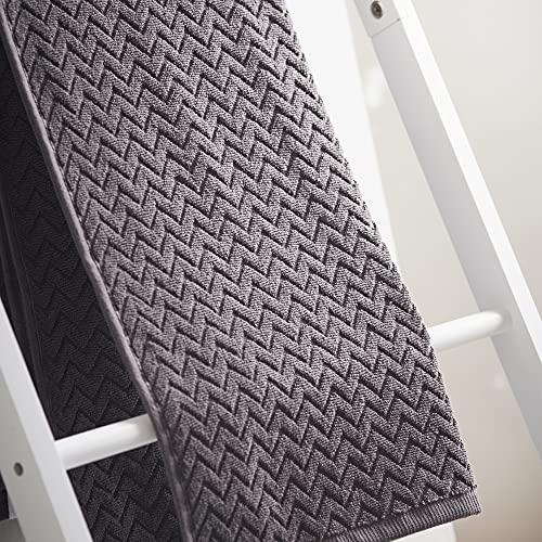 Cosmo Living - Asciugamano in 100% cotone goffrato, motivo a zigzag, perfetto per fare una dichiarazione in bagno, morbido al tatto, estremamente assorbente, confezione da 2