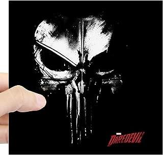 CafePress Netflix Punisher Skull Square Sticker 3 X 3 Square Bumper Sticker Car Decal, 3