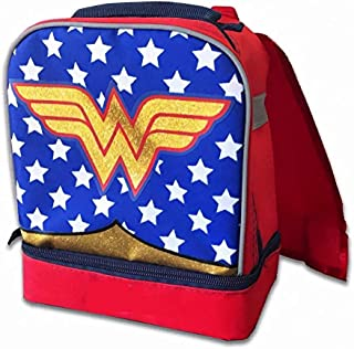Fast Forward Wonder Woman Kids Lunch Bag Insulated Lunch Bag For Kids School Dual Compartment Lunch Kit