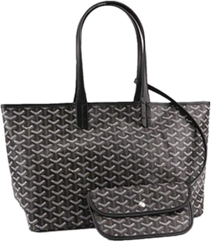 XIYU Fashion Large Shopping PU Tote Bag, Designer Shoulder Handbags with Key Ring Black