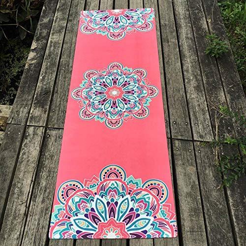Nice Design Pink Flower Natural Rubber Yoga Mat eco-Friendly Slip-Resistant Hot Yoga Best Yoga mat for hot Yoga Fitness Gym mat-China