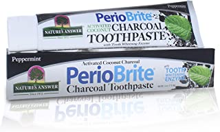 Nature's Answer Periobrite Activated Charcoal Toothpaste | Tooth Whitening, Plaque Removing, Peppermint Flavored Stain Rem...