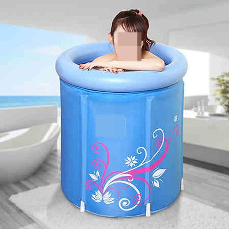 EUNADINAWENHUA Aufblasbare Badewanne Dicke aufblasbare Plastikwanne für Erwachsene Luftbder für Wohnzimmer (Gre   75  68cm)