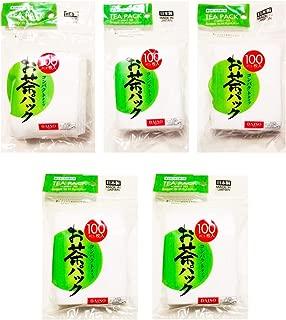 5x100pcs Disposable Filter Bags for Loose Tea -Hard Type