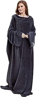 Winthome袖付き毛布 着るブランケット あったか 着る毛布 ルームウェア ガウン 部屋着 丸洗い 蓄熱保温 軽量 ふわふわ ツヤツヤな手触り 防寒 足先の冷えや節電対策に 男女兼用140×170CM