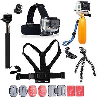 YhtSoprt Juego de accesorios para GoPro compatible con GoPro Hero 6/5/4/3 Hero Session y SJ4000 Xiaomi Yi DBPower y otras cámaras deportivas