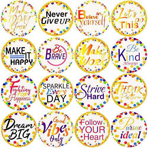 160 Pieces Confetti Positive Sayings Accents Confetti Accents Removable Confetti Stickers for Classroom Bulletin Board Decoration (White, 5 cm)