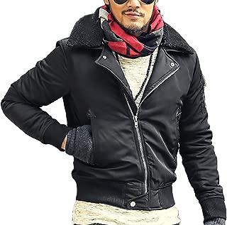 [ミックスリミテッド] MA-1 メンズ アウター ジャケット ミリタリージャケット ファー ボア 中綿 暖かい
