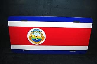 Costa Rica Flag Metal Aluminum Car License Plate Tag Costa Rica Bandera for Home/Man Cave Decor by PrettyMerchant