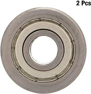 Nitrip 2pcs LV20/10 Guía de rodamiento de ranura de doble rodillo de acero 10 mm de diámetro interior 30 mm de diámetro exterior 14 mm de espesor