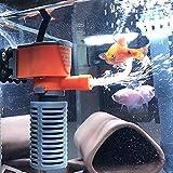 Mini Filtro 3 en 1 de 3 W / 5 W, Filtro de Esponja para Peces de Acuario, Suministro de oxígeno, Filtro de Bomba de Aire silencioso para Todas Las peceras pequeñas