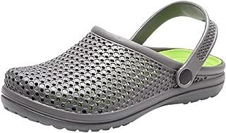 KESEELY Men's Flip Flops - Summer Hole Shoes Sandals Breathable Casual Outdoor Non Slip Beach Slipper
