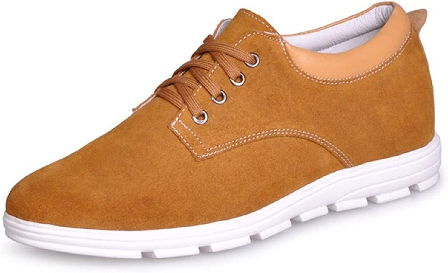 Elevator shoes 1.96 inches Taller-Cow Suede Casual Height Increasing Elevated shoes Men