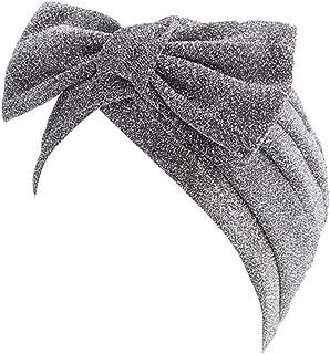aihihe Womens Beanie Hat Bowknot Elastic Stretch Head Wrap Turban Headbands Headwraps Headwear Cap Fashion Or Sport