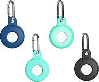 $21 » 4 Pack Silicone case Key Chains for Airtag, Cover Skin for AirTags Holder Phone Finder Key Rings,Backpacks,Dog, Pets,Glow ...