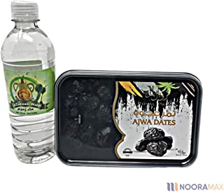 Ajwa Dates 400g with Zam Zam Water 500ml and Imported from Makkah