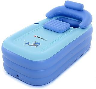 Intime Plegable Inflable Gruesas Adultos Calientes Bañera, Niños Piscina Inflable, Azul