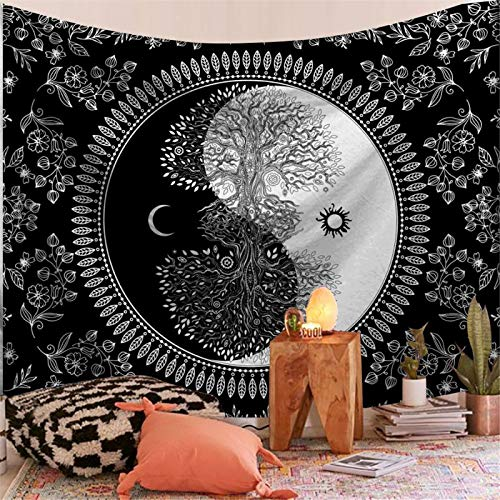DHHY Polyester 3D Printing Tapestry, Mandala Series Printing Tapestry Tapestry, Household Decoration Tapestry