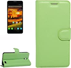 Mobile Phone Cases & Covers, For Alcatel One Touch Idol X / 6032 / OT-6032 Litchi Texture Horizontal Flip Leather Case with Holder & Card Slots & Wallet (Color : Green)
