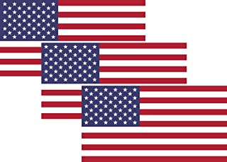 American Flag Sticker 4 icnhes (3 Pack), US Flag Decal, Auto Decal Bumper Stickers for Cars/Truck Boats/MacBook/Laptops etc. by A-B Traders