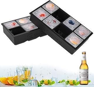 Bandeja De Hielo De Silicona, 2 Pack 16 XL cubitera hielo
