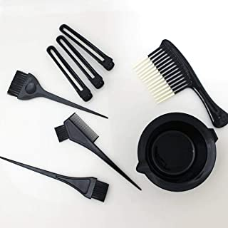 Maya Beauty Hair Dye Set Kit Black (5pcs Hairdressing Brushes Bowl Combo Salon Hair Color Dye Tint DIY Tool Set Kit), hair brush, professional, easy to apply, applicator, quick color