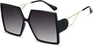 STORYCOAST Oversized Square Sunglasses for Women Fashion Large Shield Shades UV400 Protection