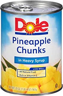 Dole Pineapple Chunks In Syrup, 20 Ounce -- 12 per case.