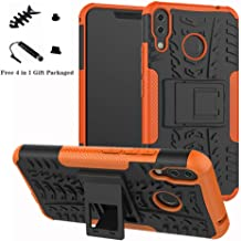 ZenFone 5 ZE620KL case,LiuShan Shockproof Heavy Duty Combo Hybrid Rugged Dual Layer Grip Cover with Kickstand for ASUS ZenFone 5 (ZE620KL) 6.2-inches Smartphone (with 4in1 Packaged),Orange
