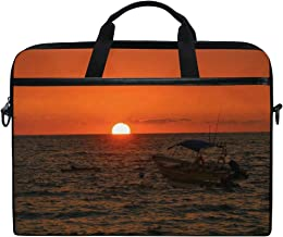 Sunset Boat MexicoGOOD Personality Fashion Design Canvas Laptop Portable Messenger Bag Office Briefcase Computer Notebook Tablet Ultra Lightweight Protection Bag Suitable for 15 x 11 inches.