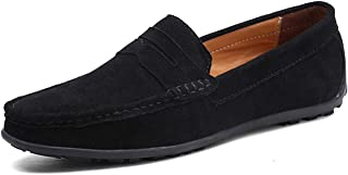 Jade clear Fashion Summer Style Soft Moccasins Men Loafers Genuine Leather Shoes Men Flats Gommino Driving Shoes,03 Black,11