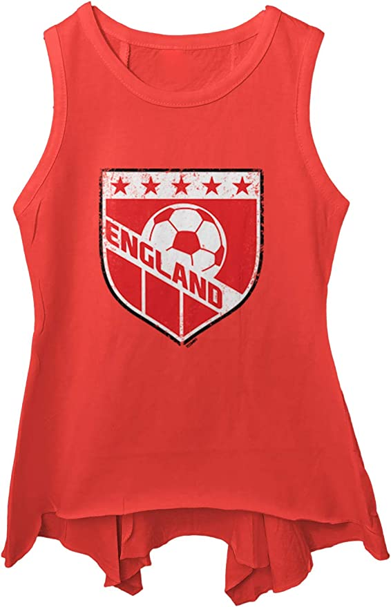 United States Soccer Distressed Badge Youth Contrast Back Tank Top