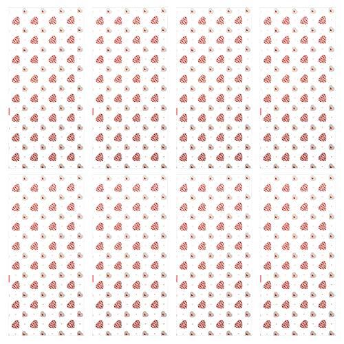 Tomaibaby 100 Piezas Bolsas de Regalo de Regalo de San Valentín Bolsas de Dulces Transparentes de Celofán para Decoraciones de Fiesta del Día de San Valentín Estilo 1