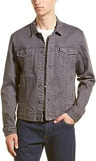John Varvatos Men's Long Sleeve Denim Button Trucker Jean Jacket