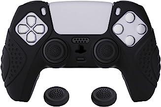 eXtremeRate PlayVital Guardian Edition zwart ergonomisch zacht anti-slip controller siliconen hoesje cover voor PlayStatio...
