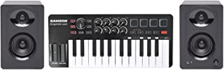 Samson Graphite M25 25-Key USB MIDI DJ Keyboard Controller+Pair Studio Monitors