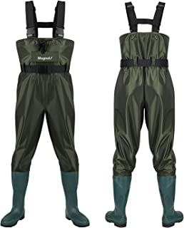 Magreel Chest Waders,Hunting Fishing Waders for Men Women with Boots,Waterproof Bootfoot Nylon/PVC Wader, Size 7 -Size 14