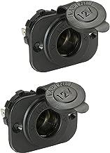 Wocst Universal Waterproof 12V-24V DC Cigarette Lighter Socket for Car Boat Motorcycle