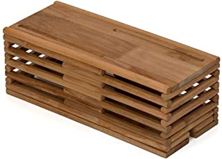 Wire Storage Box Desk Socket Finishing Box Bedroom Cosmetics Storage Box Mobile Phone Holder (Color : Brown, Size : 27 * 14 * 13.5cm)