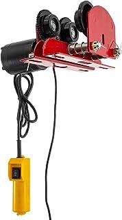 Mophorn Polipasto Eléctrico, Cabrestante Cable, 220V, 500KG, Carritos para Vigas Manual, con Motor Eléctrico, 1102LBS