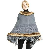 OVEL Women's Soft Knit Poncho Sweater