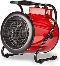 WILK Calentador De Ventilador Eléctrico Industrial De 3KW, Calentador De Aire con Termostato Silencioso Resistente Al Agua 3 Configuraciones De Calefacción Calentador De Espacio para Taller De Inver