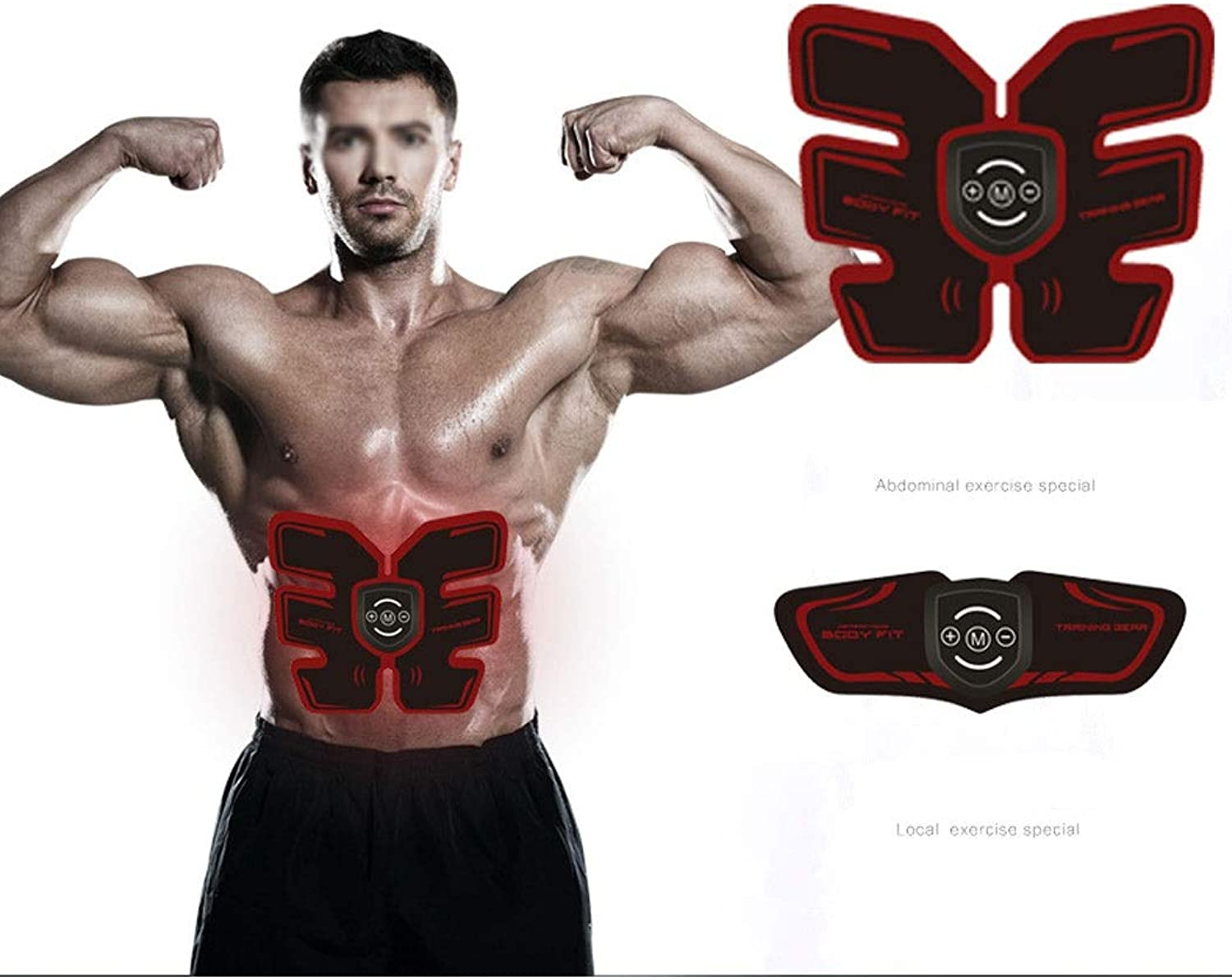 GJFeng Abdominal Muscle Paste USB Charging Smart Abdominal Muscles Fitness Equipment Lazy Vest Line Artifact Artifact Abdominal Equipment Home Lazy Outdoor Fitness Equipment