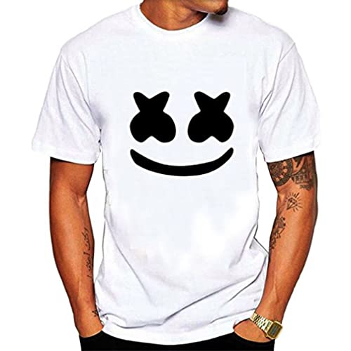 Mens Marshmello Face T shirt white