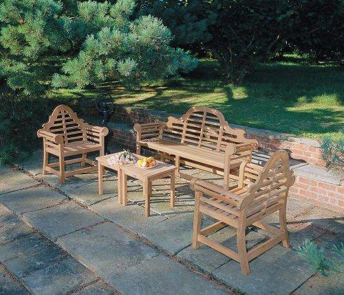 Jati Lutyens-Style Teak FULLY ASSEMBLED Garden Furniture 1.65m Set Brand, Quality & Value