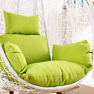JHLD Hanging Basket Seat Cushion Single, Swing Chair Pads Thicken Soft Hanging Egg Cushion Pillow for Indoor Outdoor-Waterproof-J