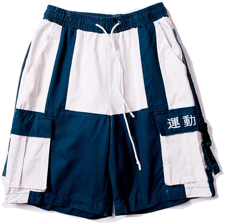 GUOYUXIAO Men Hip Hop Short Joggers Streetwear Harajuku Cargo Shorts Summer Loose Black Tatical Military Baggy Short