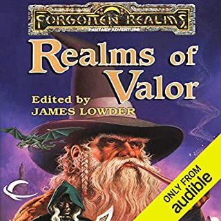 Realms of Valor     A Forgotten Realms Anthology              By:                                                                                                                                 R. A. Salvatore,                                                                                        Troy Denning,                                                                                        Elaine Cunningham,                   and others                          Narrated by:                                                                                                                                 Christine Marshall                      Length: 10 hrs and 7 mins     32 ratings     Overall 4.2